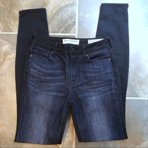 Bullhead Two Tone High Rise Skinniest Jeans Size 0